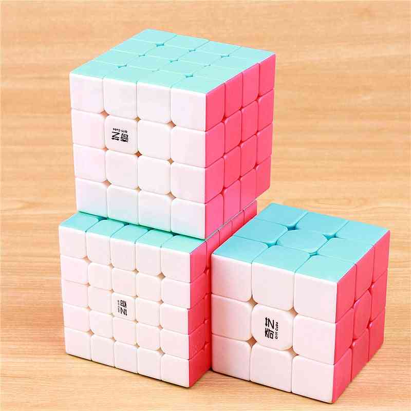 3/4/5 Layered Stickerless, Professional Puzzle Cubes