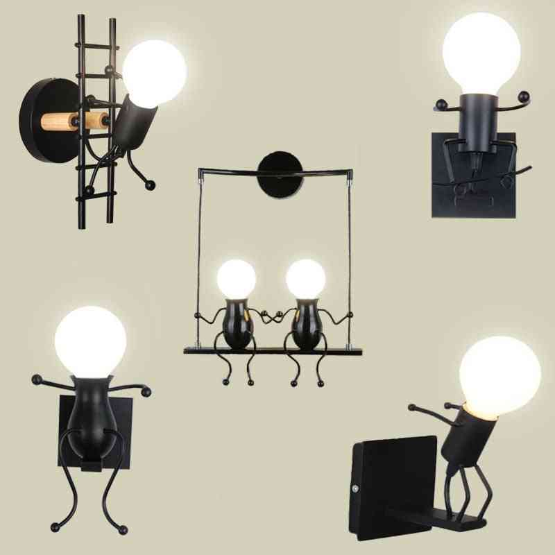 Creative Iron Wall Mounted Led Light Lamp For Room