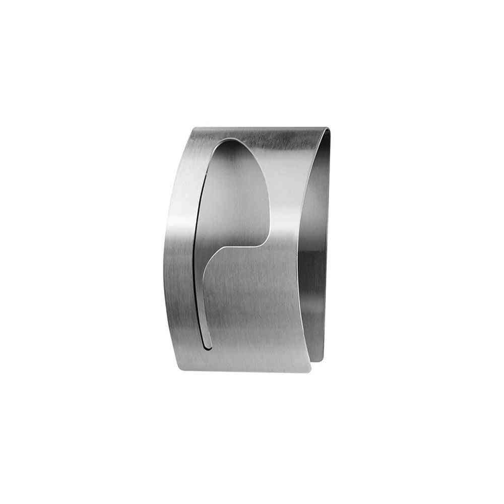 Self Adhesive, Stainless Stell And Wall Mounted-semi Circular Towel Clip