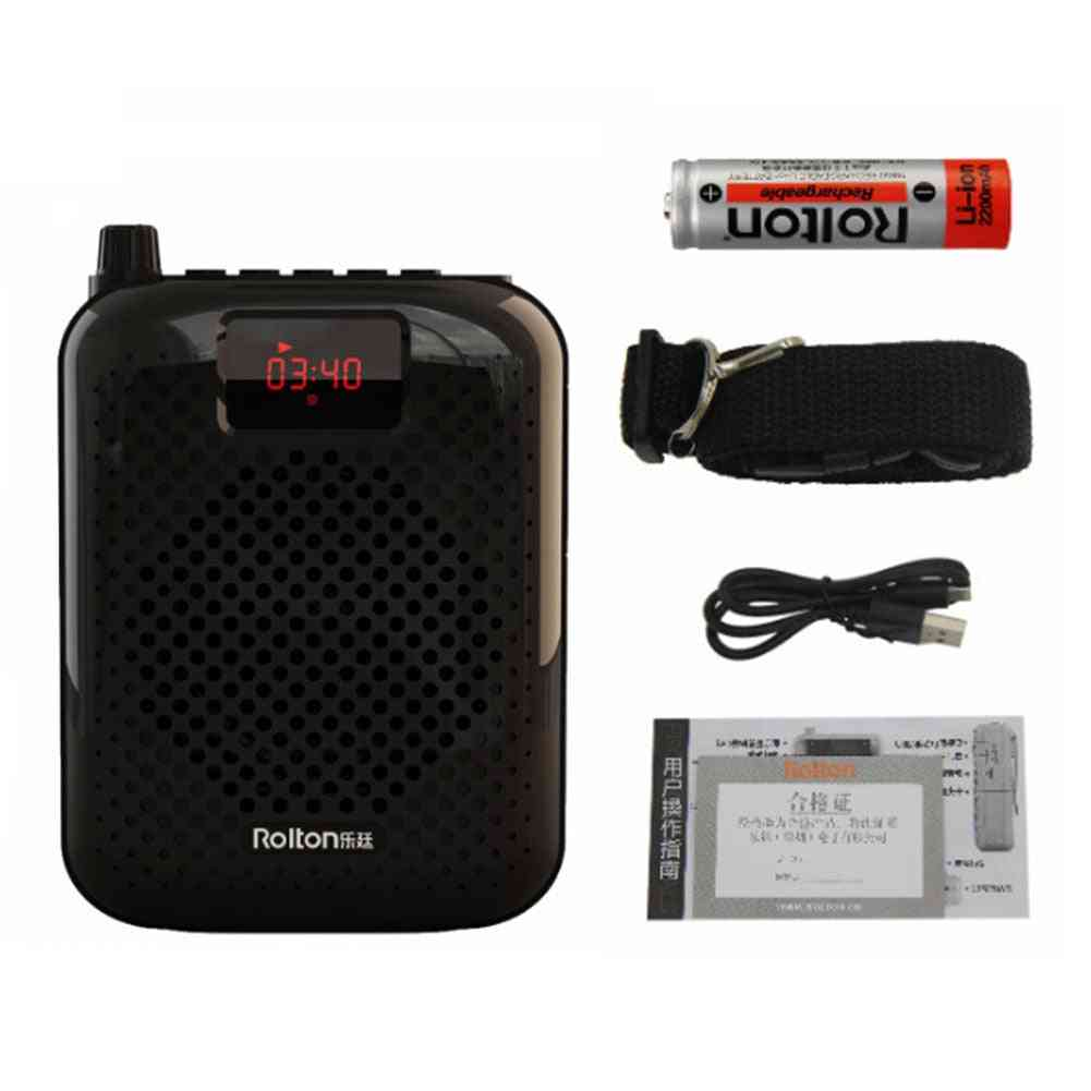 Rolton K500 Microphone Wired Coaches Bluetooth Speaker Voice Amplifier Megaphone Usb Charging