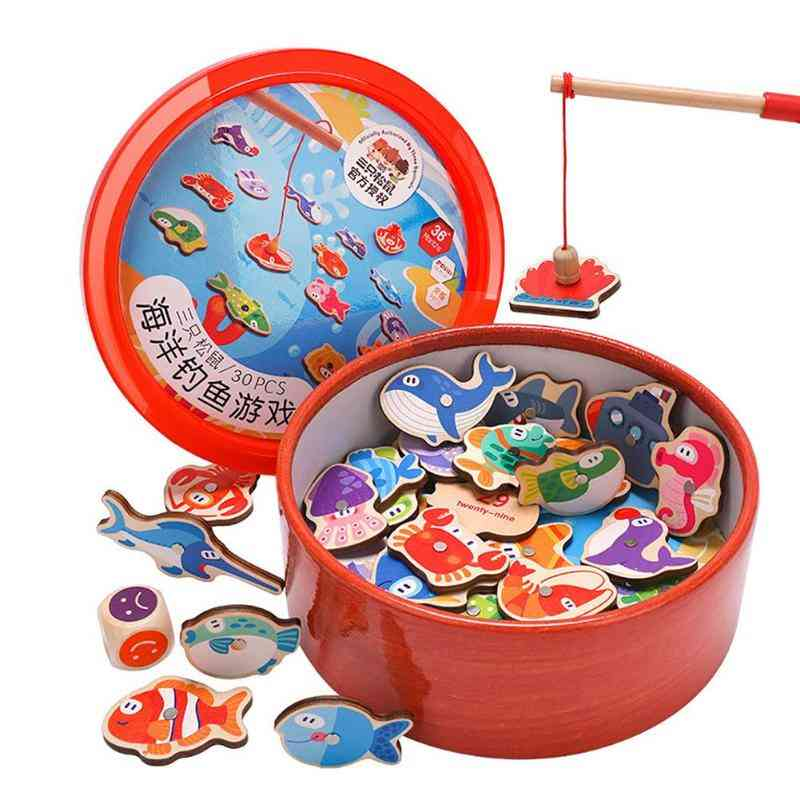 Magnetic Fishing Wooden-intellectual Game For Kids