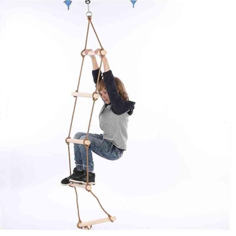 Wooden Rungs Rope Ladder - Climbing Fitness Equipment