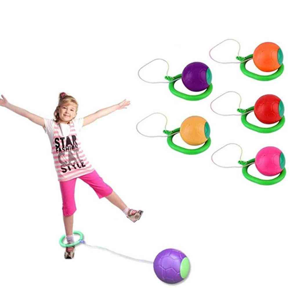 Children Led Flashing Jumping Rope Ball - Ankle Skip Jump Ropes Sports Swing Ball