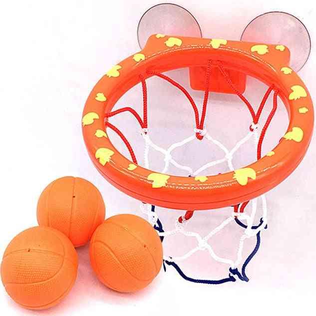 Basketball Hoop Bath Toy On Suckers Set, Outdoor Game Development Interesting Sport Tool Kit