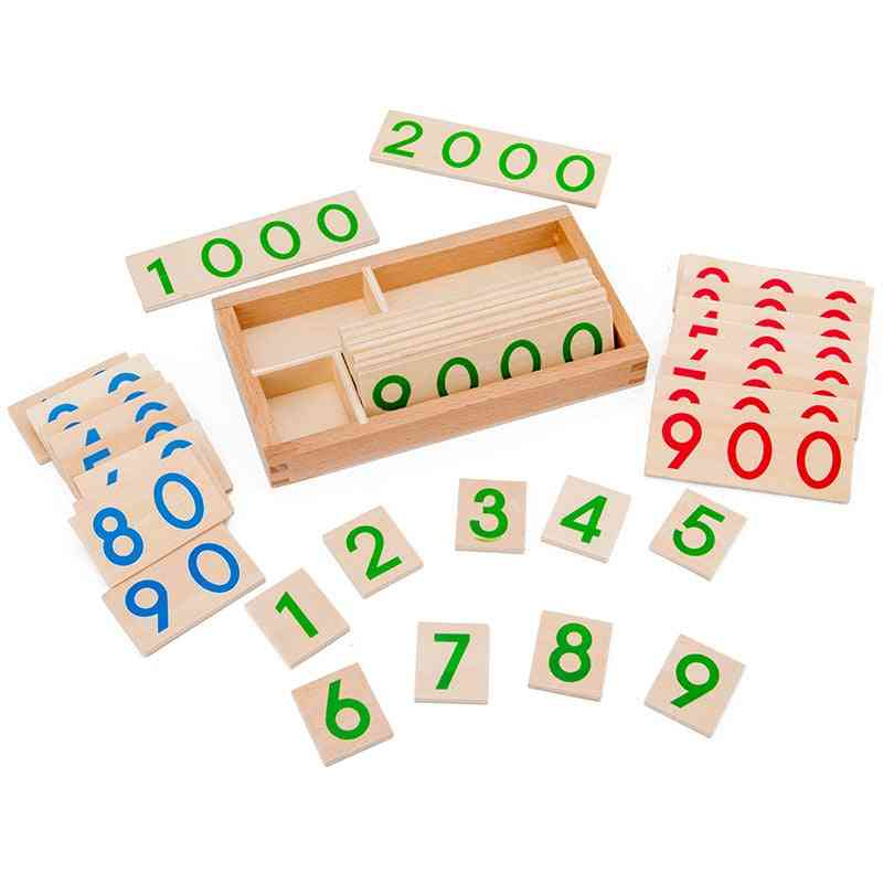 Children's Montessori Learning Card - Math Teaching Aids For Preschool Early Education