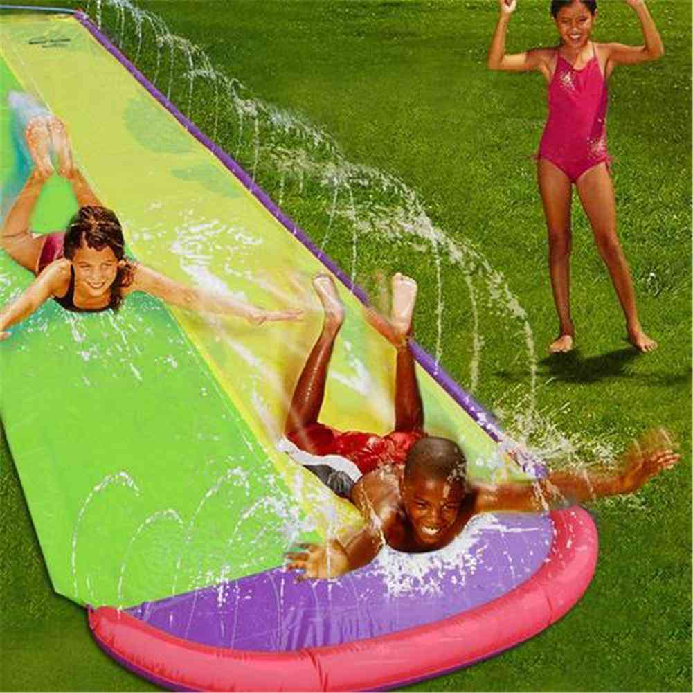 Double Surf Board-water Slide For- Backyard Outdoor Wave Rider