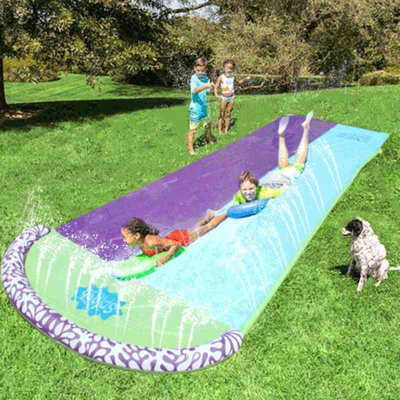 4.8m Giant Surf 'n Double Water Slide For