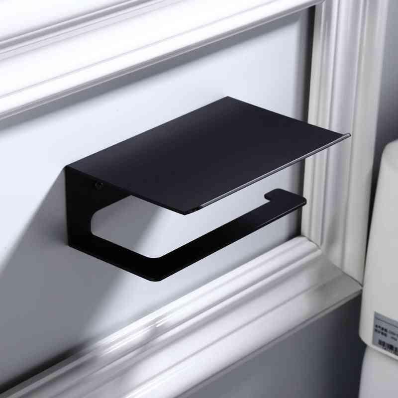 Sanitary Toilet Paper And Mobile Phone Holder - Bathroom Multi Function Shelves