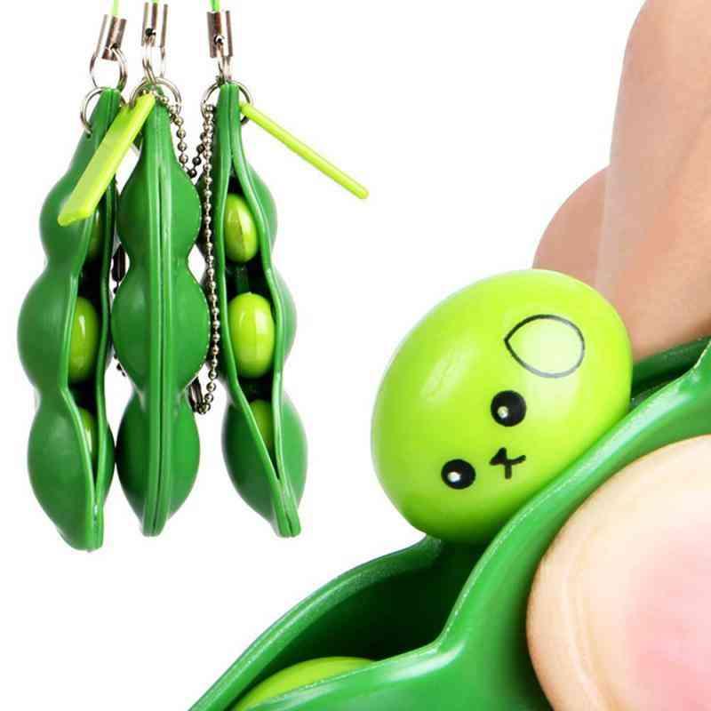 Edamame Bean Pea Expression Chain Key-stress Relieve Decompression