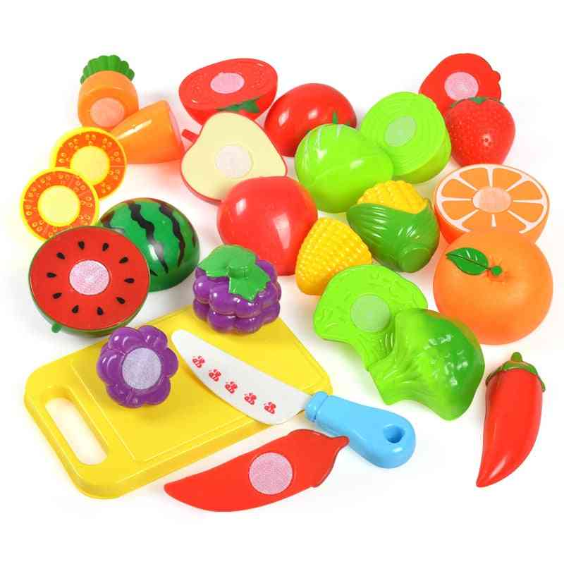 Plastic Food Toy-cut Fruit, Vegetable, Pretend Play