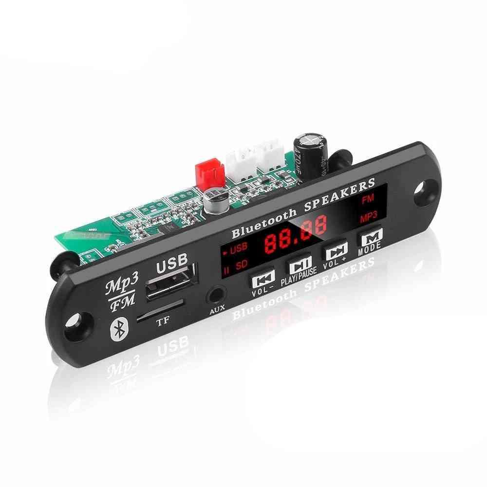Car Audio Usb Tf Fm Radio Module, Wireless Bluetooth Decoder Board