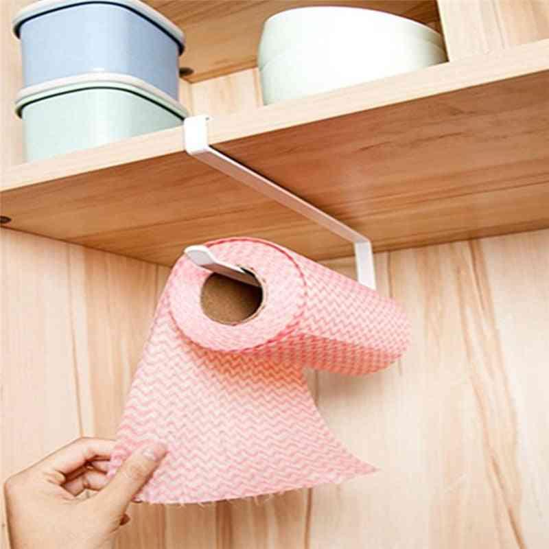 Hook Curl Design, S Type Kitchen Cabinet/door-paper Roll Holder