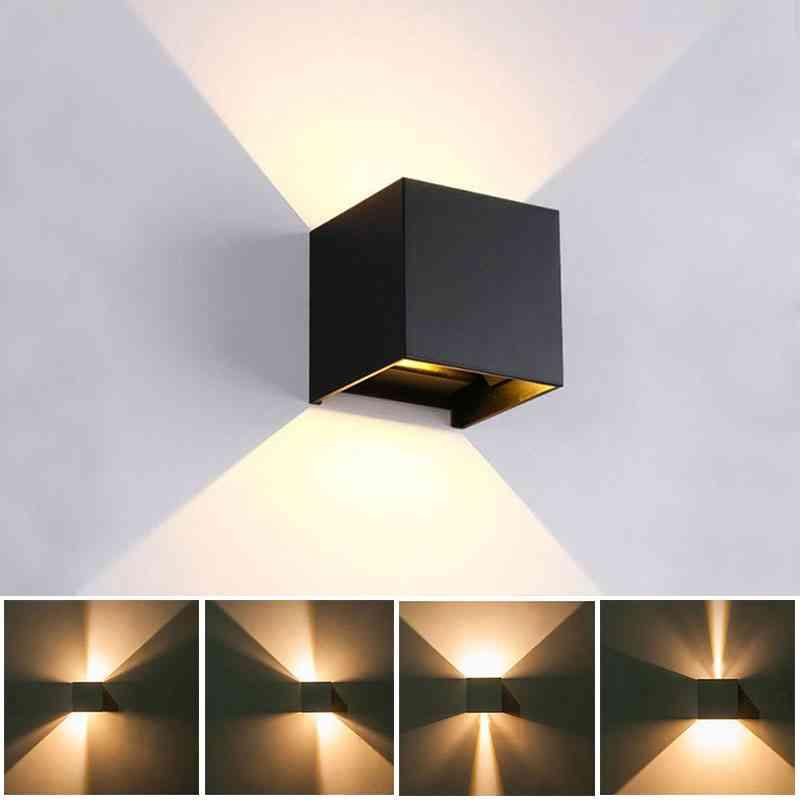 Adjustable Beam Angle Design Led Wall Lamp - Indoor / Outdoor Waterproof Light