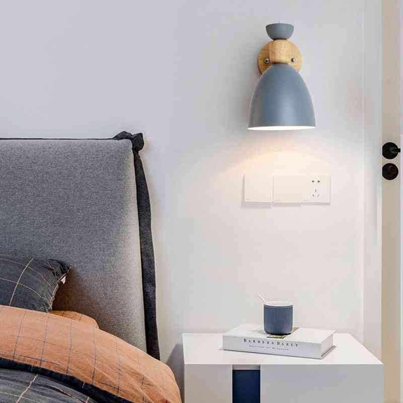 Nordic Modern Wood Led Wall Lamp