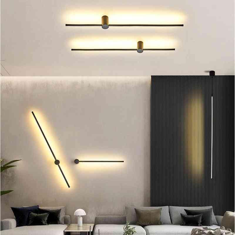 Modern Long Hanging Led Wall Lamp For Living Room
