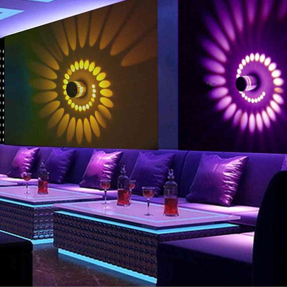 Rgb Spiral Hole Led Wall Lamp With Remote Controll