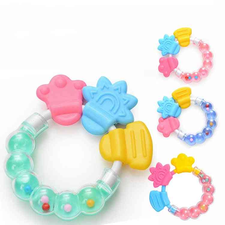 Baby Teething Molar Silicone Sticks And Chewable Rattle Circle Shower For