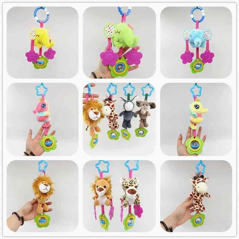 Cartoon Plush - Hand Bell Baby Stroller Crib Hanging Rattles