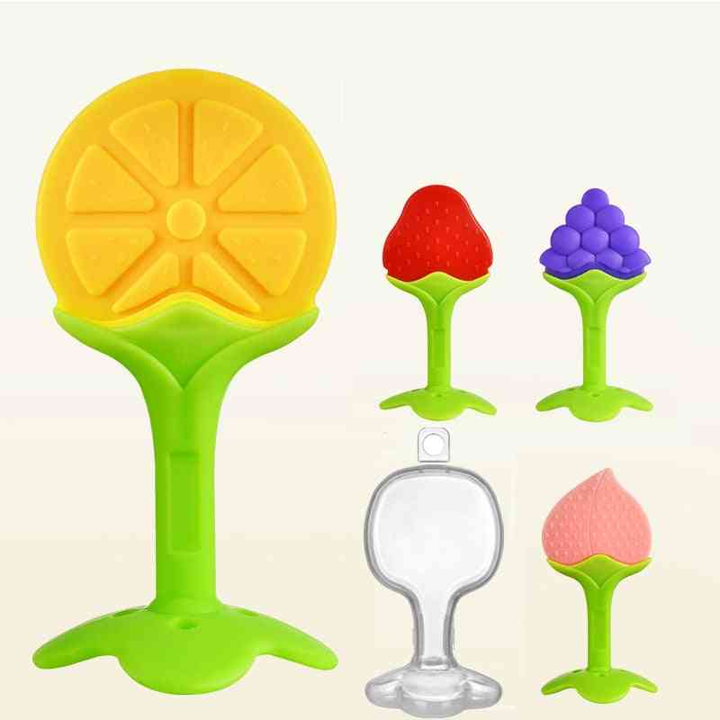 Baby Safety Silicone Fruit Teethers - Infant Chew Tooth