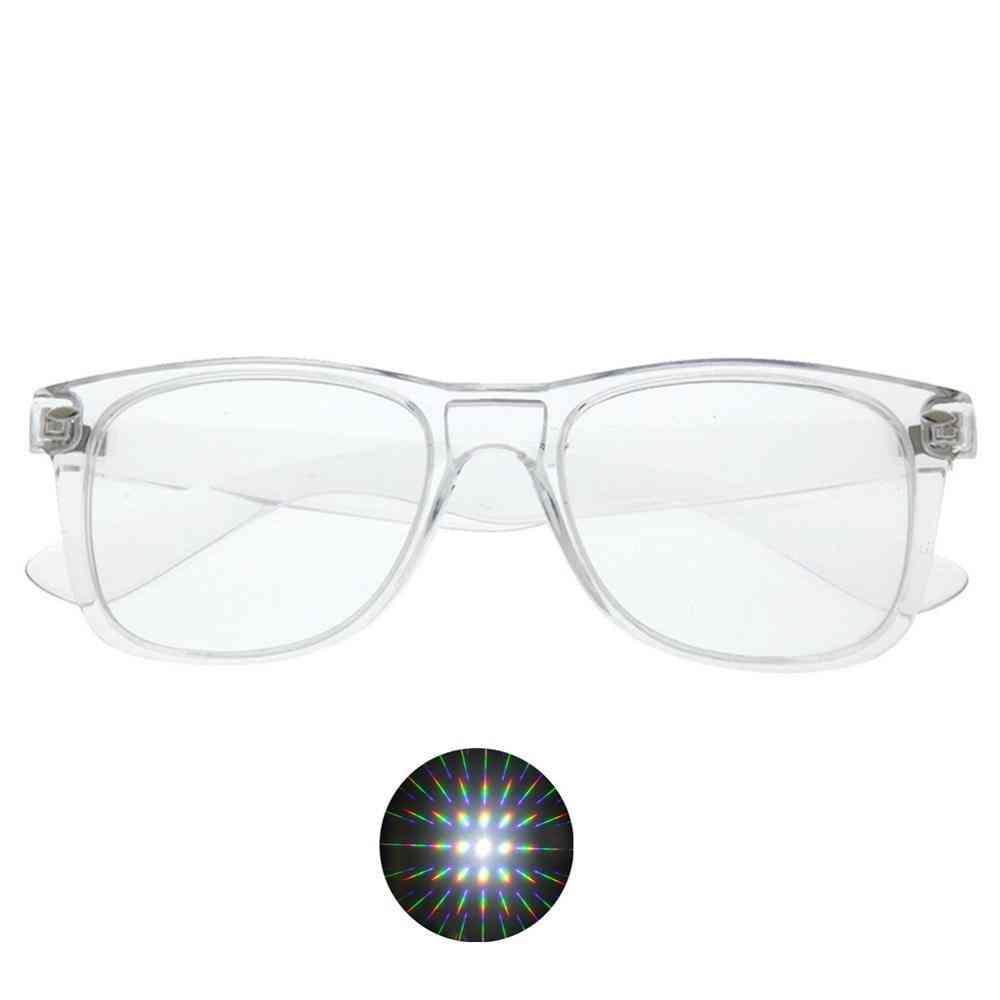 3d Ultimate Diffraction Starburst Glasses - Prism Effect, Edm Rainbow Style, Rave Frieworks