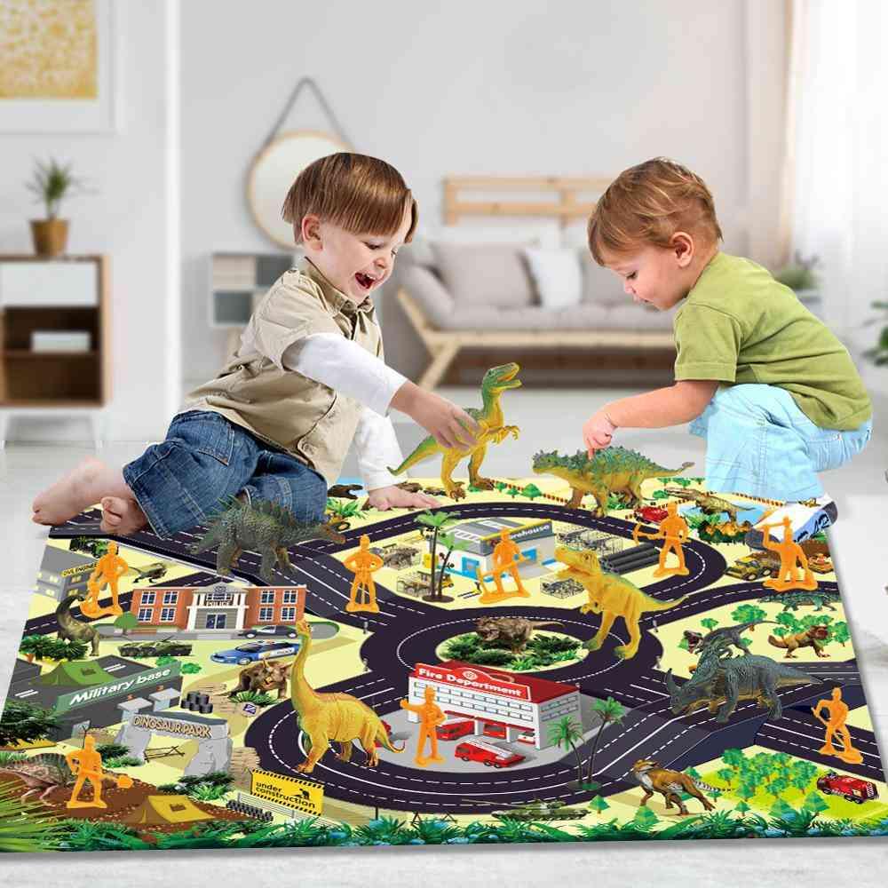 Simulation Animal Model Dinosaur Park Doll Game Mat Carpet Scene