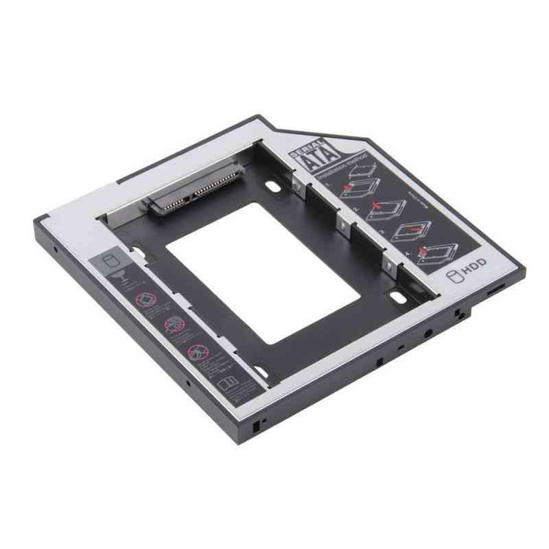 Aluminum 2nd Hdd Caddy - Sata 3.0 Hard Disk Drive Box  (12.7mm)