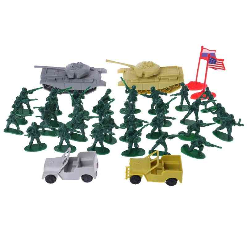 Military Sand Table Soldier Model Set - Scene Building Boy Educational