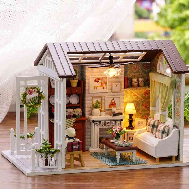 Miniature Dollhouse With Furnitures - Wooden Cutebee Roombox Toy