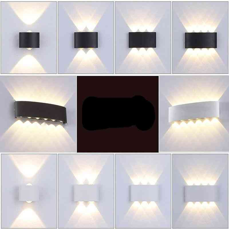 Waterproof Cob Led  Aluminum Wall Lamp, With Up Down Lights