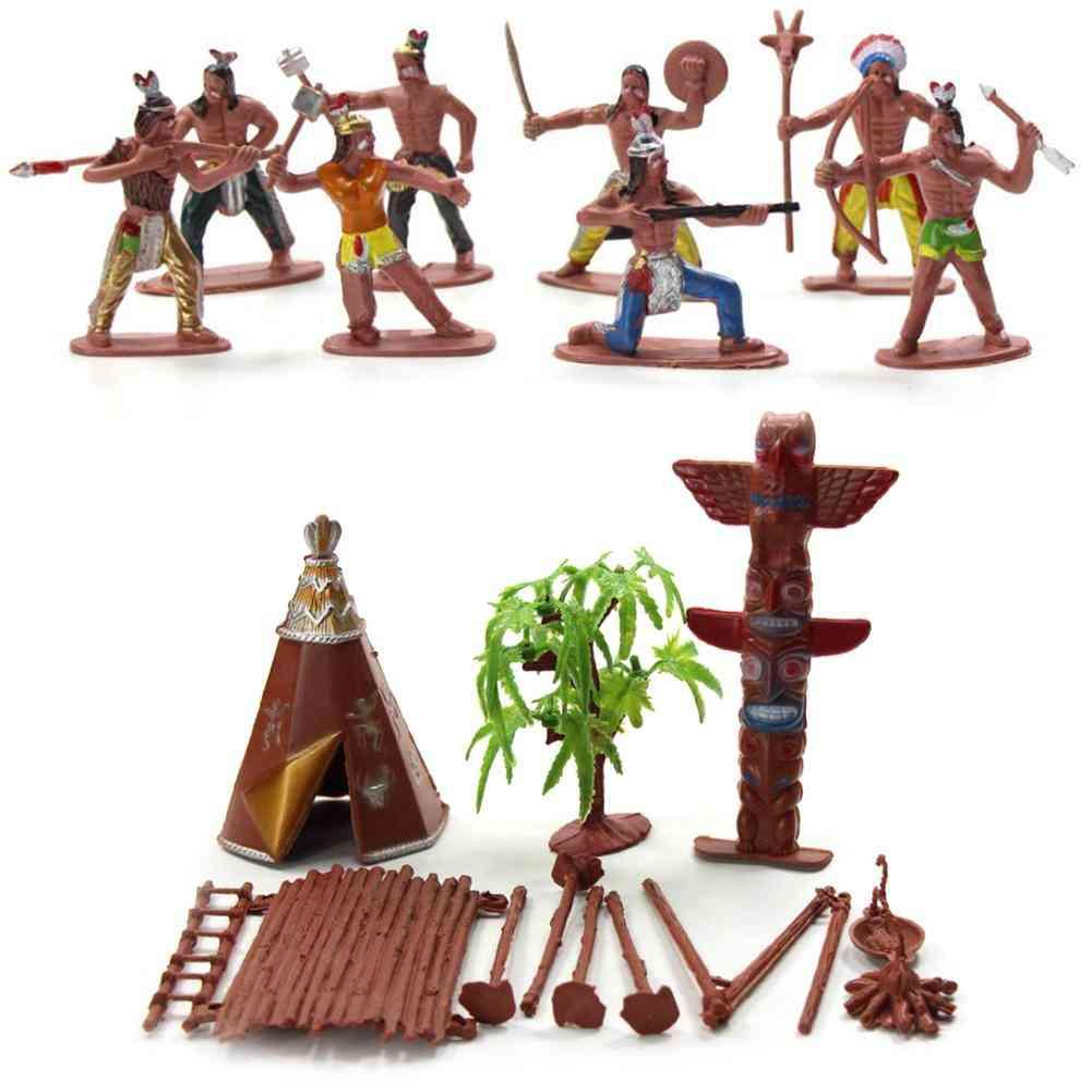 Indian Tribes Figures Model Home Desk Decor