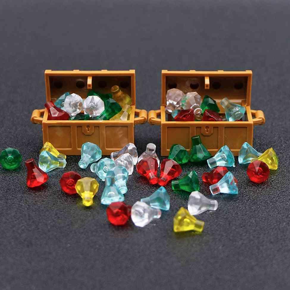 Jewelry Box With Precious Gem Stone-caribbean Pirate Figure Treasure Toy