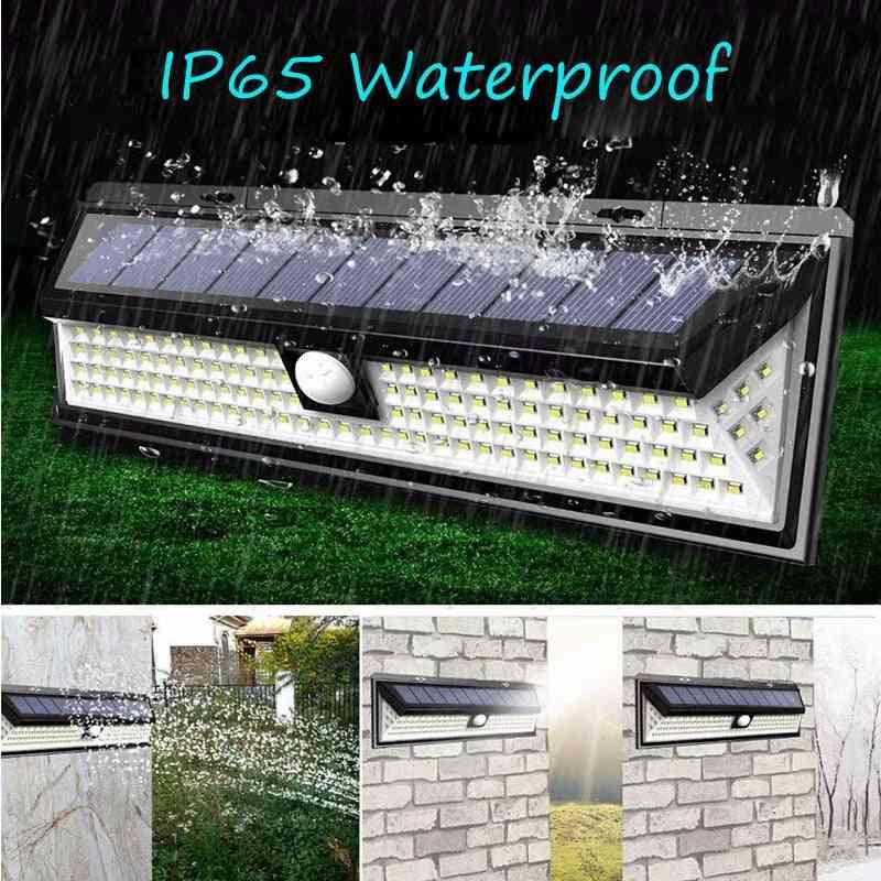 Pir Motion Sensor Solar Led Lamp For Outdoors, Garden Lights, Emergency , Security