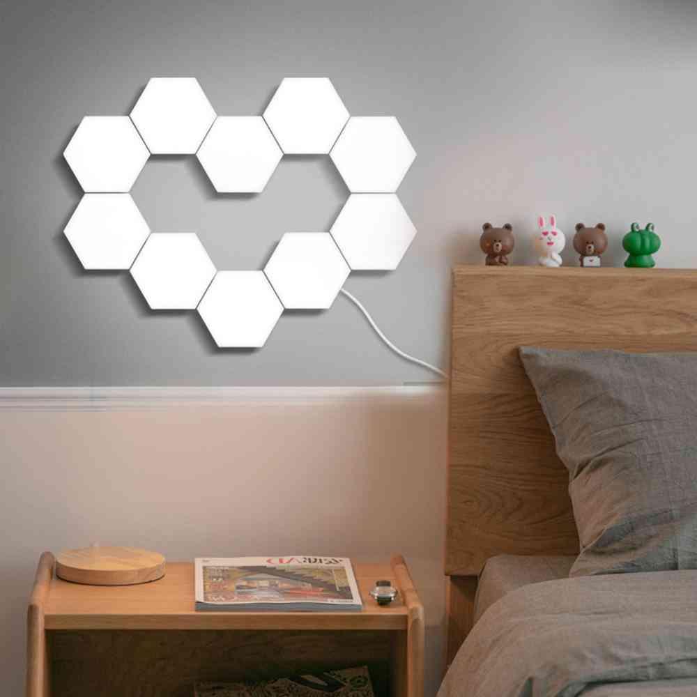 Touch Switch Quantum Led Hexagonal Modular - Nordic Wall Lamp Lights