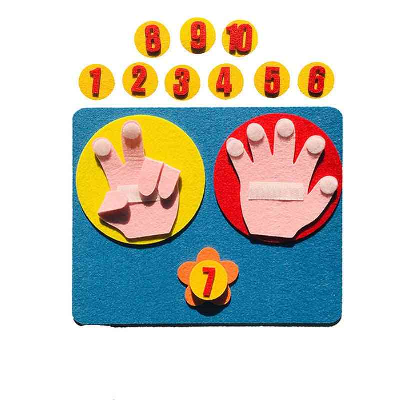Finger Counting 1-10-montessori Number Teaching Aids
