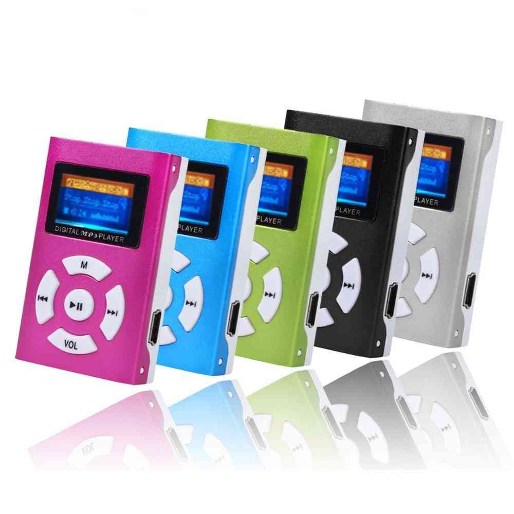 Mini Usb Clip Mp3 Player With Lcd Screen Support