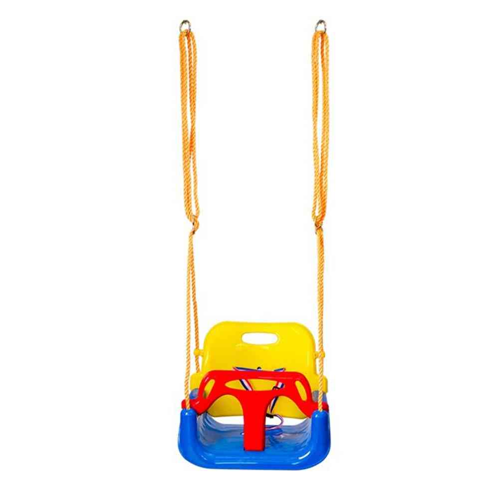 Indoor Outdoor Safe Healthy Swing For Baby Low Back Pe Plastic Basket Fun Crazy Games