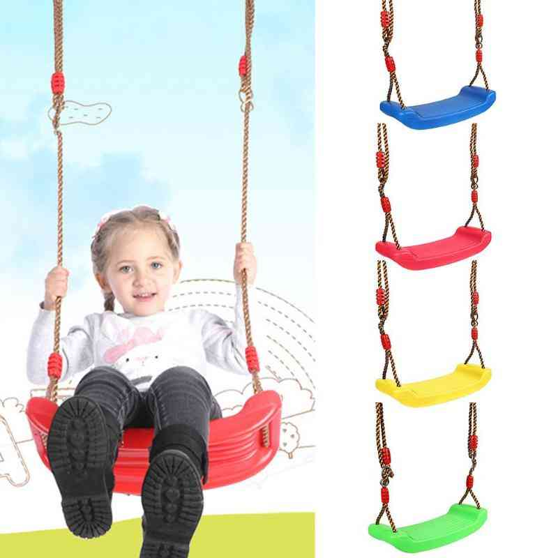 Plastic Anti-skid, Adjustable Swing Seat With Automatic Leveling Rope
