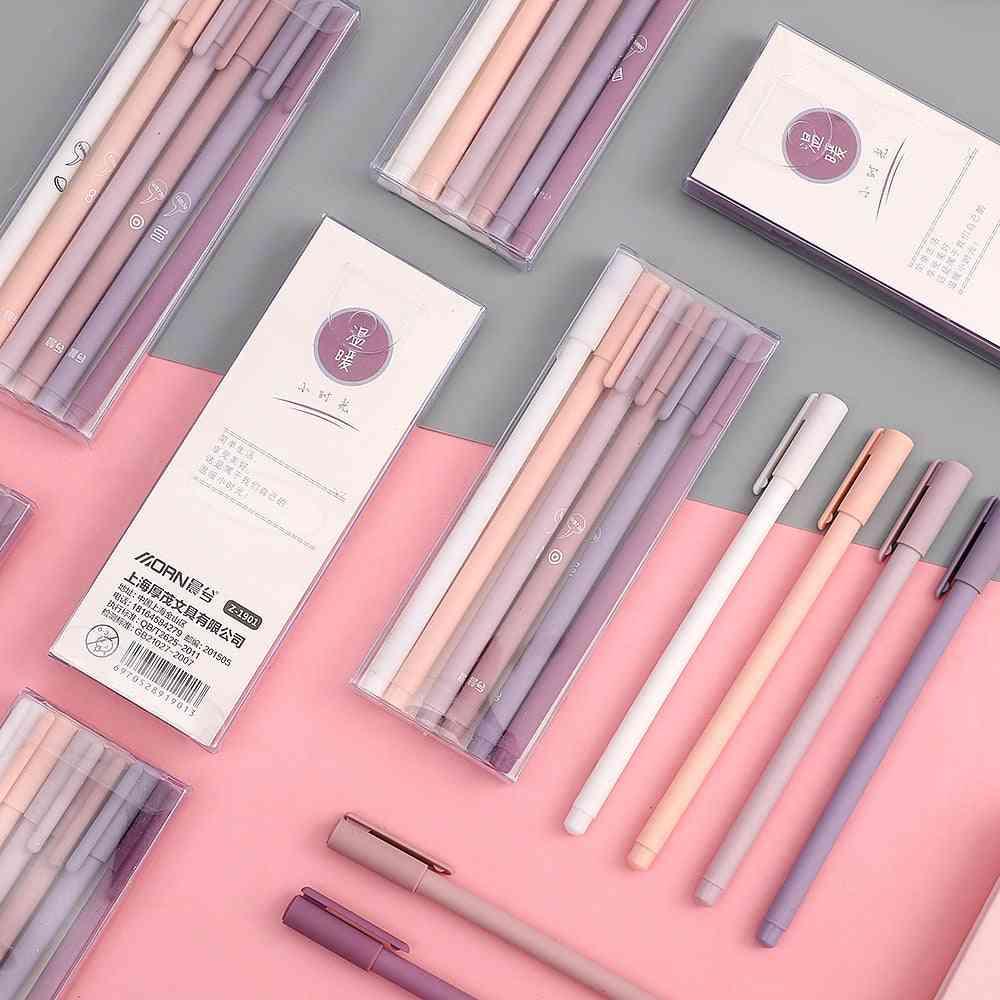 Creative Cute Morandi Simple Small Fresh Gel Pen For Quick Drying Cap