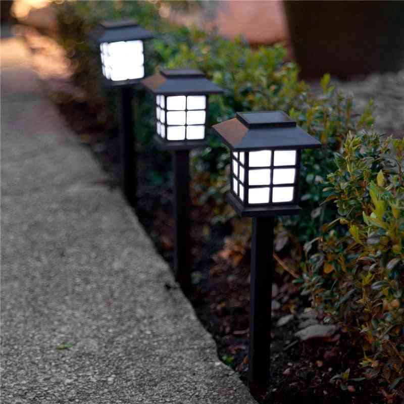 Waterproof, Square Shape And Solar Powered-led Lantern
