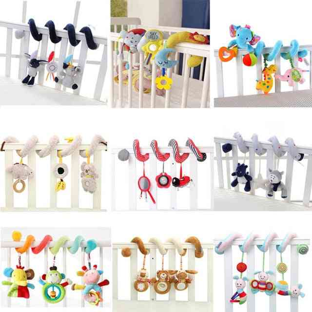 Toy Baby Stroller Comfort Stuffed Animal Rattle Mobile Infant For Baby Hanging Bed Bell Crib Rattles
