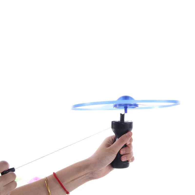 Outdoor Sports Pull Line Saucer - Led Lighting Ufo Parent / Child Interaction