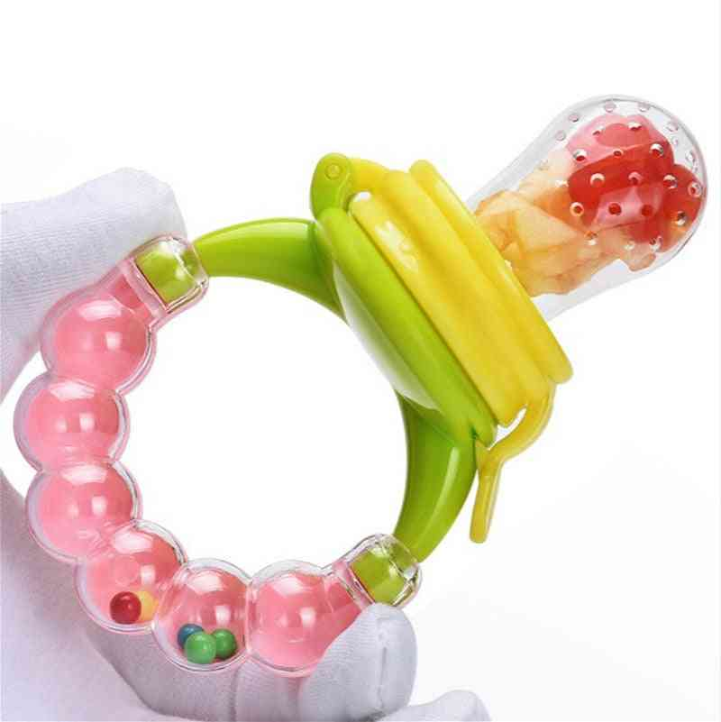 Latex Free, Bell Ring Shape-food Pacifier And Teether