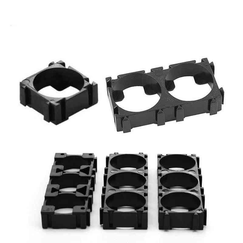 20pcs 18650 Lithium Cell, Cylindrical Battery Case Holder Batteries Pack, Plastic Holder Bracket For Diy Battery Pack