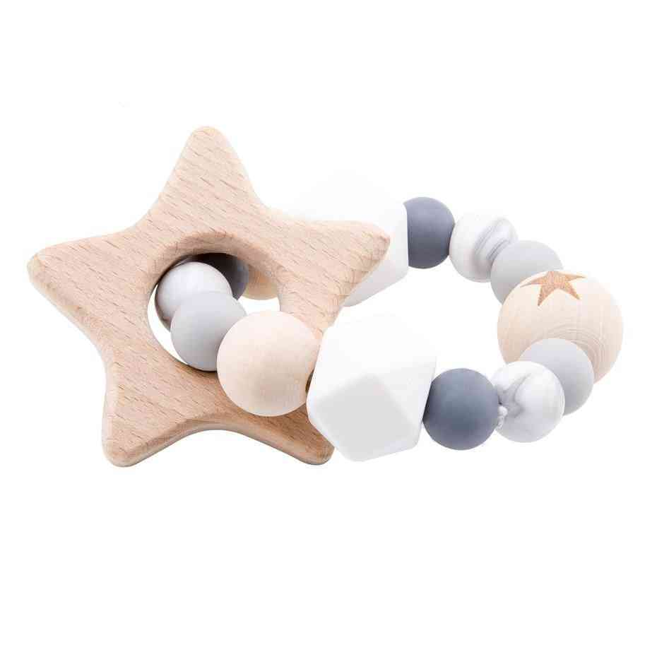 Wooden Rattle Teether Baby