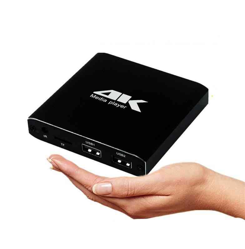 Mini 4k Full Hd Media Player With Sd/usb/hdmi Av/auto Play