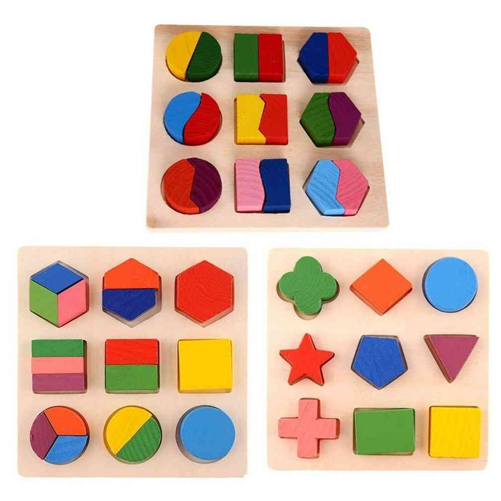 Baby Wooden Geometry Block Puzzles