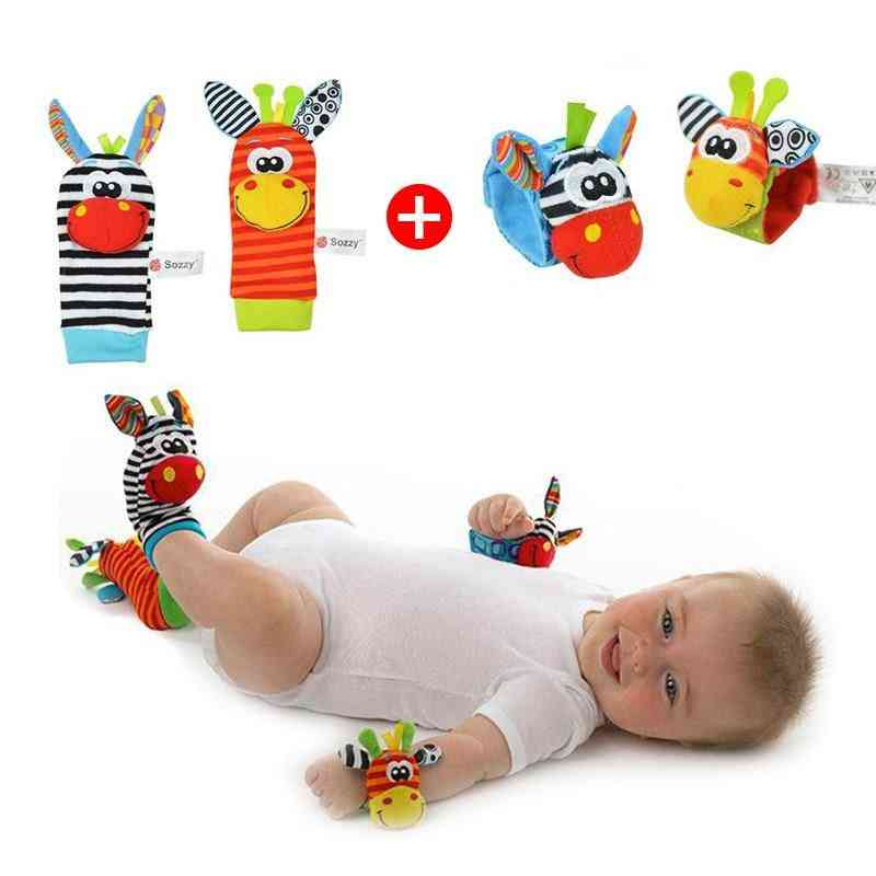 Soft, Wearable, Washable-foot And Wrist Rattle Toy Set For Babies