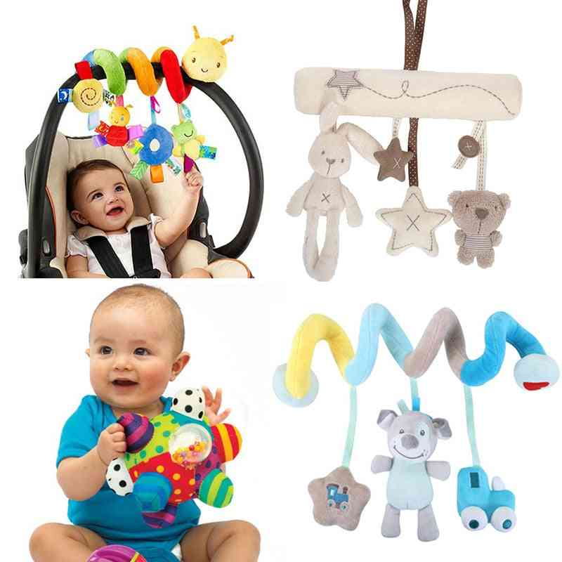 Cute Cartoon Deisn, Hanging, Sprial For Crib/stroller, Rattles And Towels