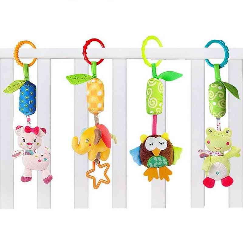 Infant Baby Cotton Rattle Hand Bell Toy, Animals Plush Development