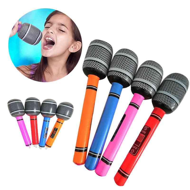 Inflatable Microphone Toy For Cool Party, Stage Decorations And Prop